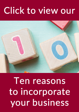 Ten reasons to incorporate your business